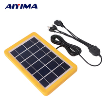 AIYIMA 3W 6V Solar Cell Polycrystalline Solar Panel DIY Solar Power System For 3.7V Battery Charge with 3M 5 in 1 Charge cable