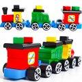 Монтессори Детские Игрушки Деревянный Поезд DIY Притворяться Орех Сочетание Обучения Образовательных Дошкольного Образования Brinquedos Juguets