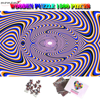 MOMEMO Crazy Geometric Art Puzzle 1500 Pieces Puzzle Adults Wooden Toys Creative Giant Difficult 1500 Piece Jigsaw Puzzles Gifts