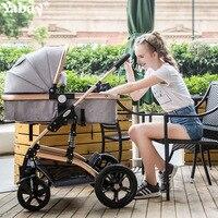 Yabei Aluminum Alloy High Landscape Baby Stroller Summer Sitting Down Two way Shock In Children