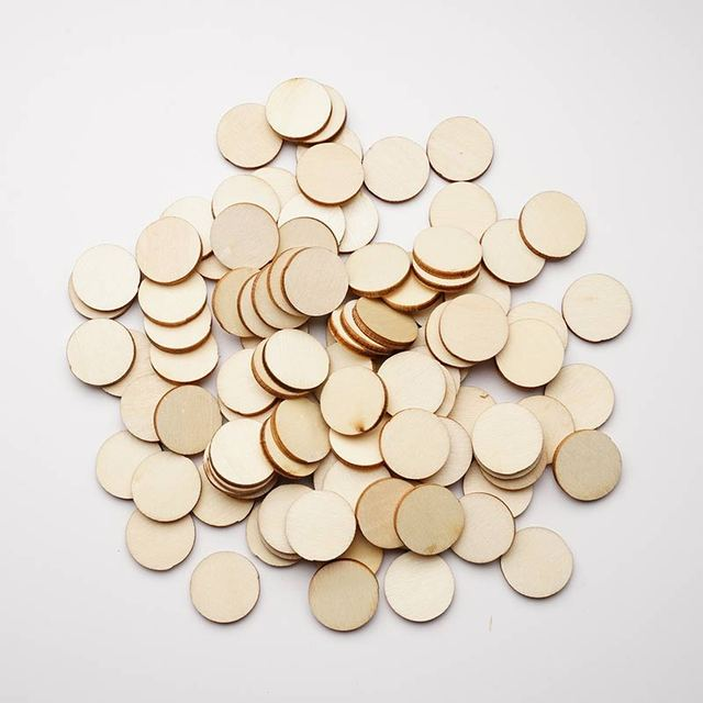 Unfinished Round Circle Wooden Embellishment for Cardmaking DIY Cardmaking Round Wooden Embellishment LAW5607