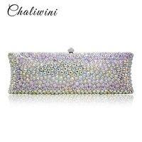 Мода красочные кристалл Woemn сумки алмаз журнал сцепления переработанных подарок клатч Свадебный вечерний клатч кошелек