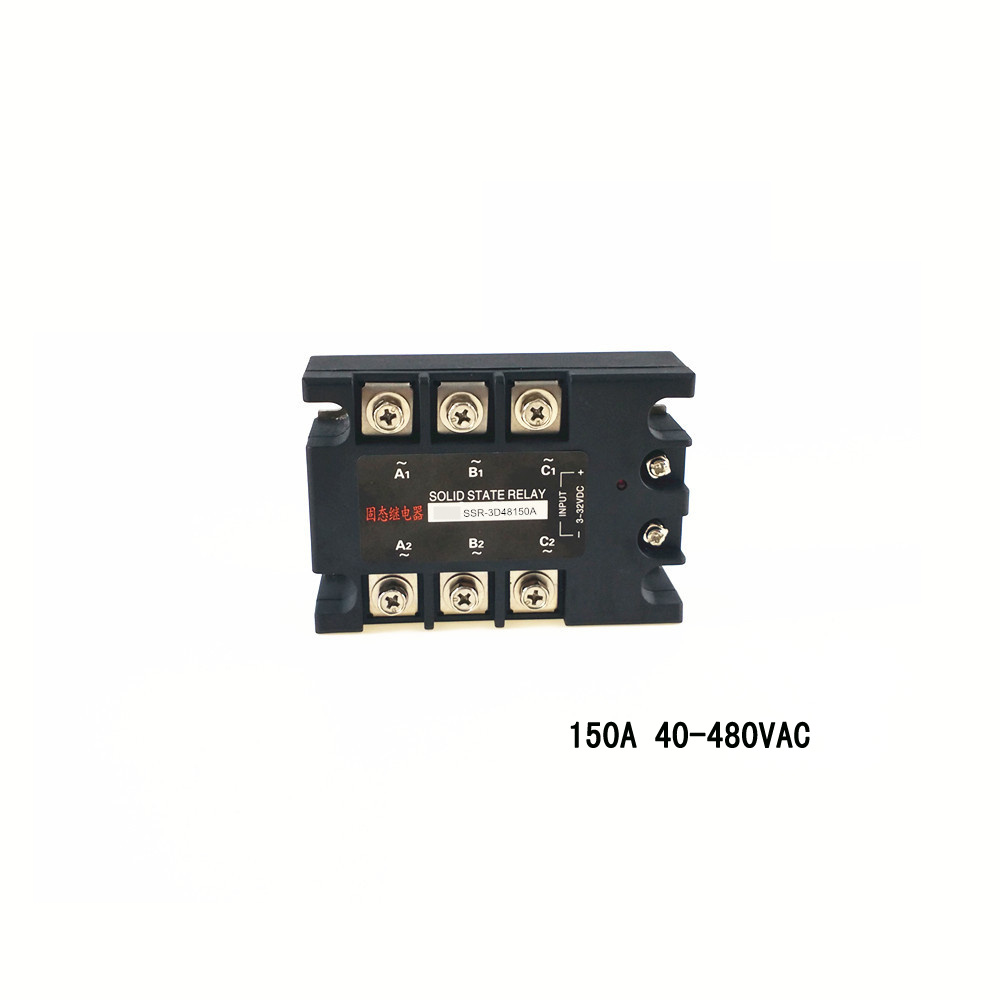 Three-phase solid state relay 150a 480vac zero-crossing normally open non-contact switch SSR-3D48150A original 3 phase ac solid state relay ssr 15a 80 250vac normally open electronic switch