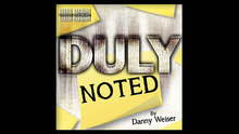 Duly Noted by Danny Weiser,Magic Tricks danny ayers beginning xml