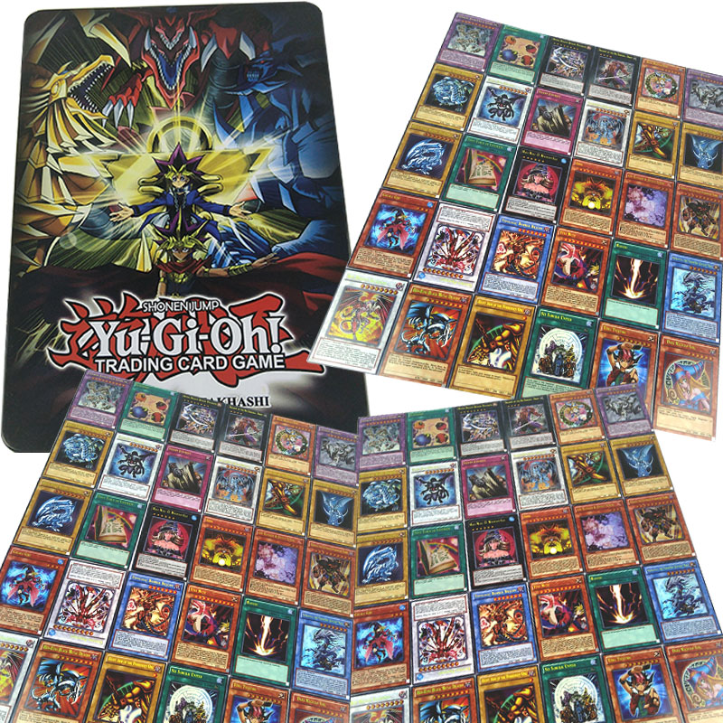 60pcs/Set Yugioh Rare Flash Cards Yu Gi Oh Game Paper Cards Kids Toys Girl Boy Collection Yu Gi Oh Cards Christmas Gift With Box