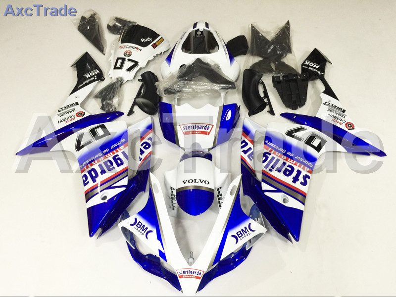 Motorcycle Fairings Kits For Yamaha YZF1000 YZF 1000 R1 YZF-R1 2007 2008 07 08 ABS Injection Fairing Bodywork Kit White White hot sales for yamaha yzf r1 2007 2008 accessories yzf r1 07 08 yzf1000 black aftermarket sportbike fairing injection molding