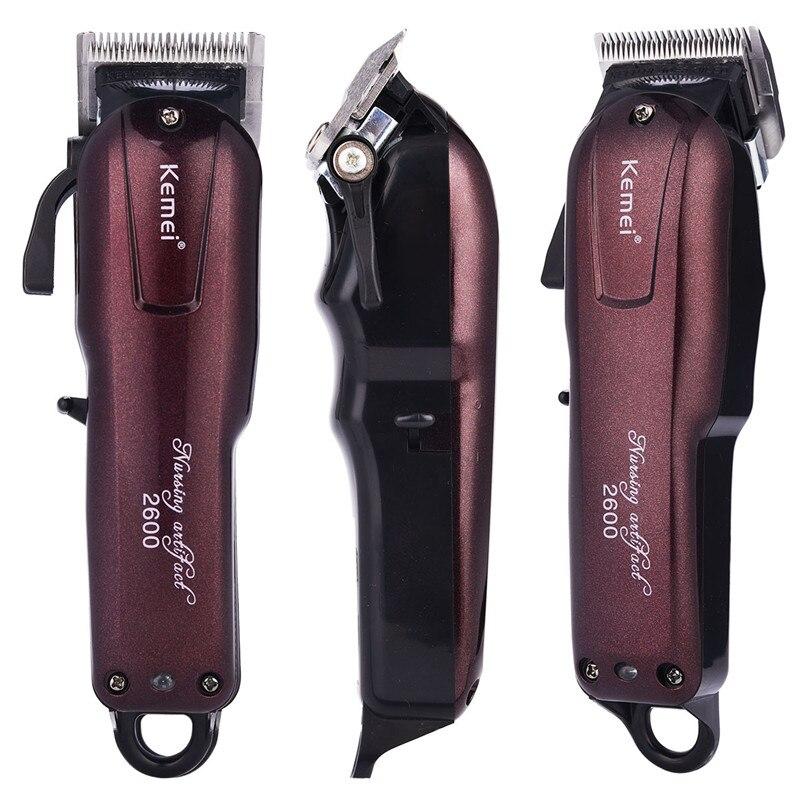100-240V Kemei Professional Hair Clipper Rechargeable Hair Trimmer Powerful Hair Cutting Shaving Machine Beard Electric Razor