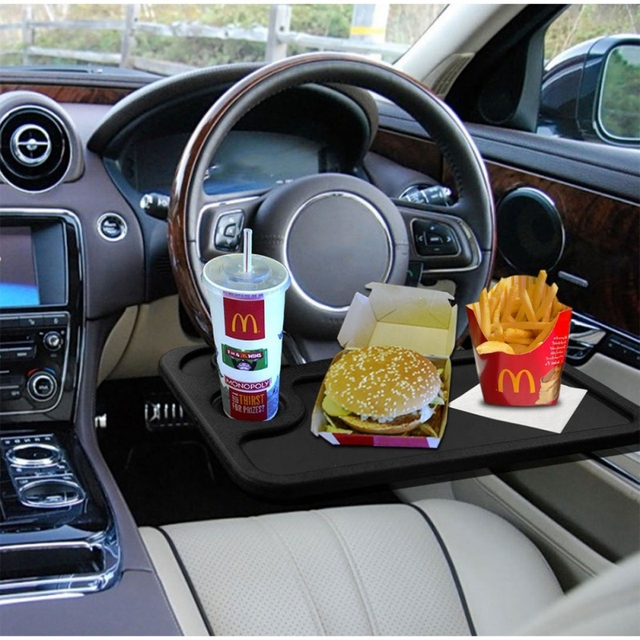 New Portable Car Desk Laptop Computer Table Steering Wheel Eat Drink Work Holder Seat Tray Stand