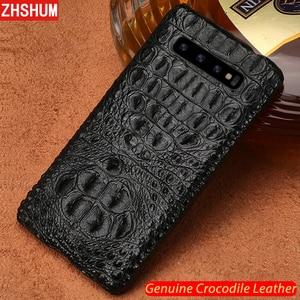 Image 2 - Luxury Genuine Crocodile Leather Case For Samsung S10 Plus S10 Lite E Note 10 Pro Case Handmade Skin Back Cover for Galaxy Note 9 10 8 S9 S8 Plus + fundas S10e s10Lite S10+ shell couqe
