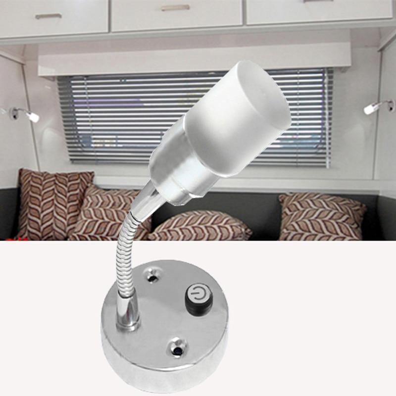 DC 12 В 146 мм гибкий шланг Кристалл светодиодный чтение ночники-locd белый Освещение Географические карты свет для RV, автомобиль, морской, лагерь