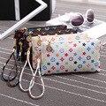 Small Women Wallets Specialty Holding CrocodileGrain Clutch Bags White