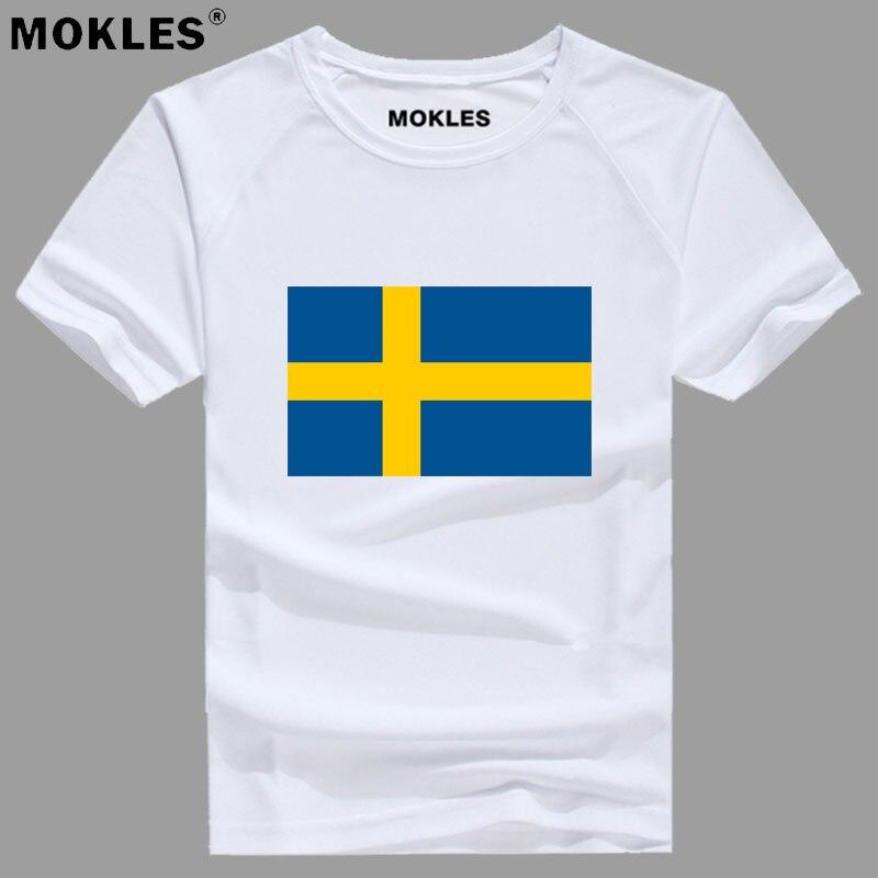 SWEDEN t shirt diy free custom made number swe T-Shirt nation flag se sverige swede swedish country college print photo clothing