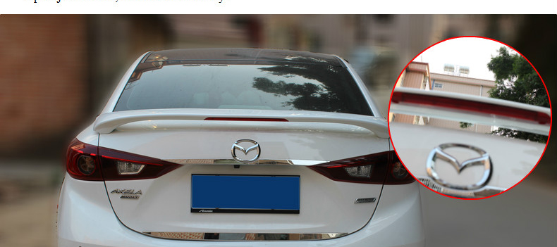 fit for <font><b>Mazda</b></font> Axela ABS high quality <font><b>Spoiler</b></font> <font><b>spoiler</b></font> Wing rear wing different colors image