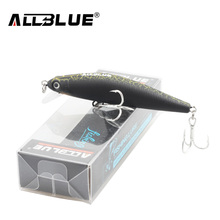 ALLBLUE 2017 Good Quality Fishing Lure Laser Minnow Wobbler Professional Baits 70mm/6.5g 8# Anti-rust Hook Crankbait Popper AB02