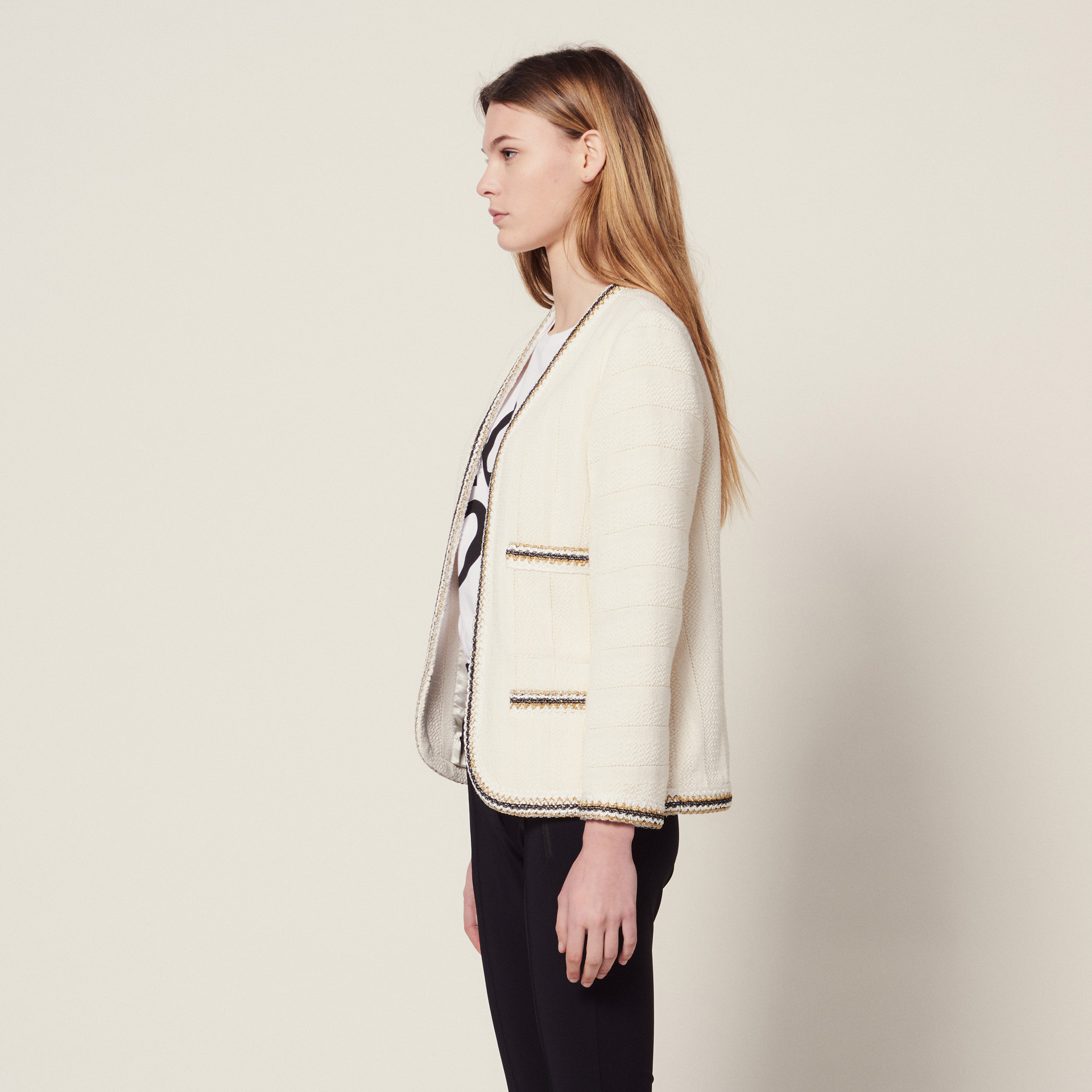 Femmes Printemps Épais Manteau Et Blanc Costume Correspondant D'été WED92IH