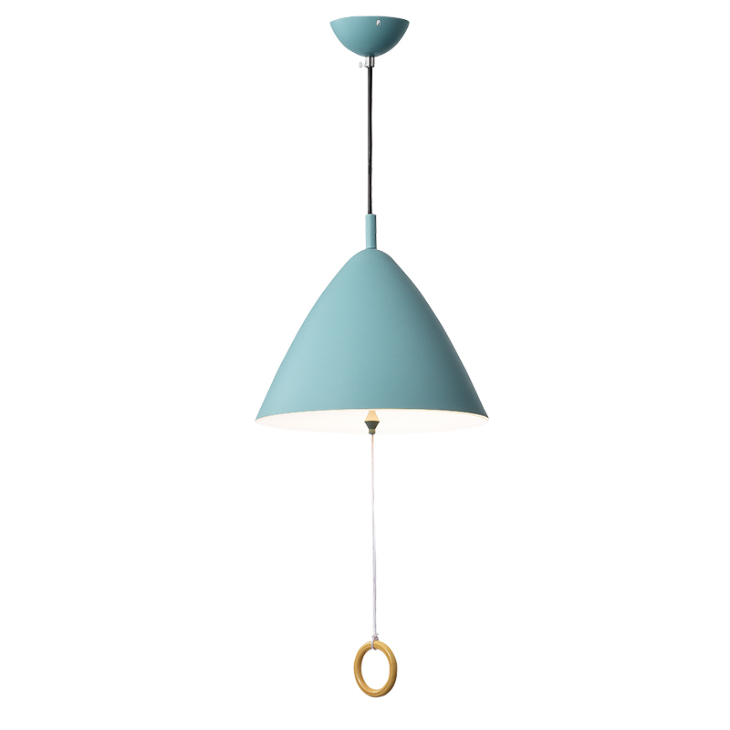 Post modern metal art LED pendant light personality decoration lighting Foyer bedroom restaurant macaron modern simple light