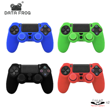 Data Frog 2 Pcs Anti Slip Silicone Rubber Case For Sony Play