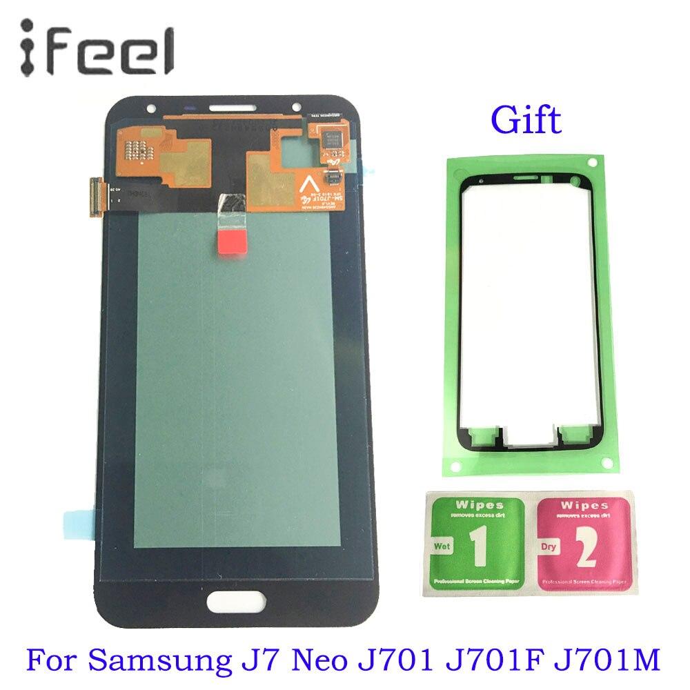 5,5 ''Super Amoled ЖК дисплей экран для Samsung Galaxy J7 Neo J701F J701M J701MT j701 дисплей + сенсорный экран Digitzer сборки