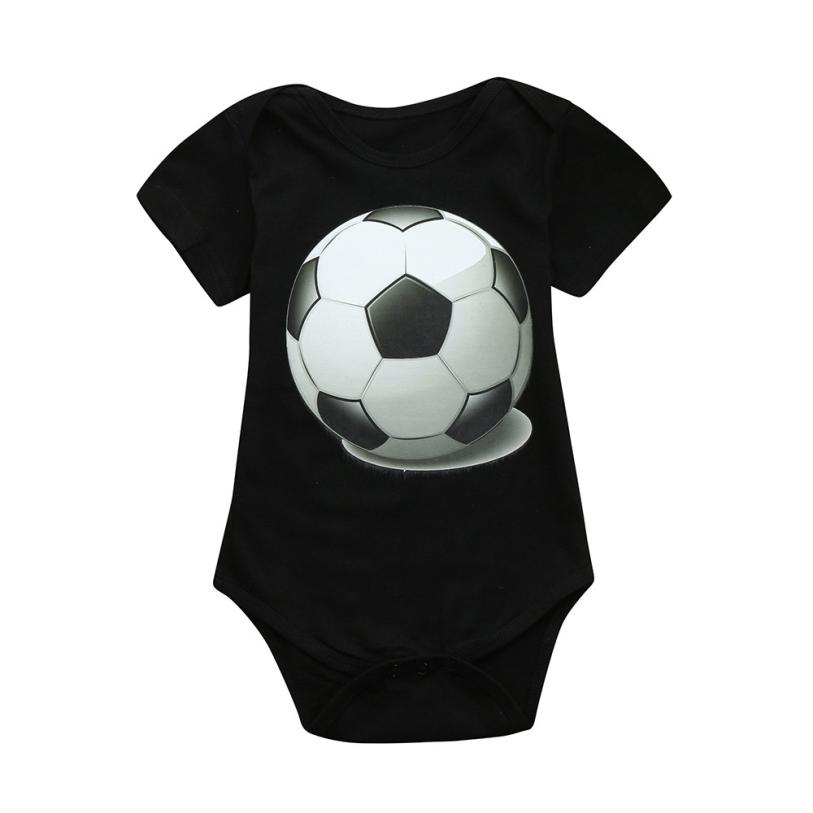 87016b64 US $1.9 35% OFF|2018 Hot Sale Newborn Toddler Baby Girls Boys Soccer  Football Print Romper Jumpsuit Outfits Comfortable And Breathable 6.14-in  ...