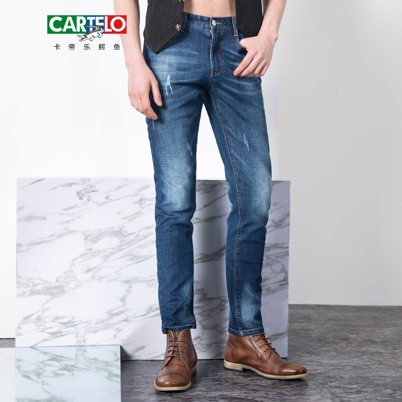 CARTELO brand 2017 mens new Nostalgic famous jeans denim trousers fashion men straight jeans stitching zipper male long pants 2017 fashion patch jeans men slim straight denim jeans ripped trousers new famous brand biker jeans logo mens zipper jeans 604