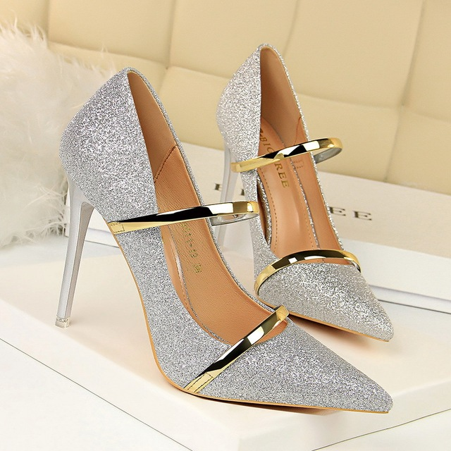 BIGTREE Women Pumps Fashion High Heels Ladies Shoes Sexy Pumps Women Sandals New Stiletto Crystal Wedding Shoes Sexy Party Shoes