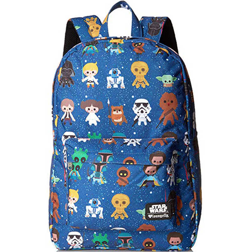 Star Wars Backpack Men's bag Rebels  Logo Alliance Icon Polyester Teenager School Bag Children men Rucksack