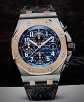Роскошные брендовые новые часы из натуральной кожи хронограф мужские часы секундомер синий черный розовое золото сапфир часы со стразами о