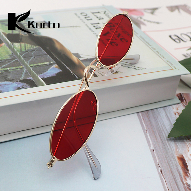 Oval Sunglasses Small Round Shades for Women 90s Oculos Sunglasses Feminino 2019 Trending Fashion Tinted Red Men Vintage Glasses