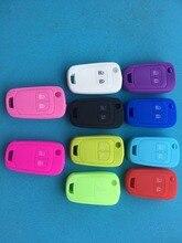 Télécommande en Silicone à 2 boutons pour voiture, pour Opel Astra J, Corsa D, Zafira, C, Mokka, insigne, Karl, Adam, Meriva, pour Buick, etui clés