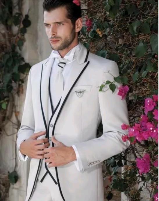 Классический мужской свадебный костюм джентльмен деловые мужские костюмы на заказ пиджак для жениха костюмы для мужчин 3 шт. (куртка + брюки ...