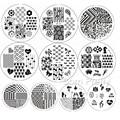 10Pcs BORN PRETTY BP61-70 Nail Art Stamp Template Image Plates #20044