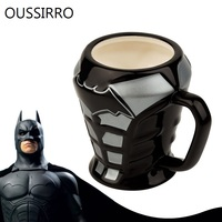 OUSSIRRO Avengers League Batman 3D Armor Loricae Mugs Superhero Ceramics Coffee Milk Tea Cup Office Decorate Copo Cartoon Gifts