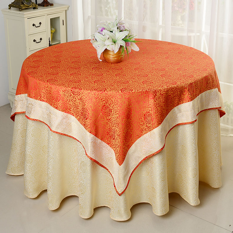 Jacquard Table Cloth Damask Table Cover For Wedding Tables