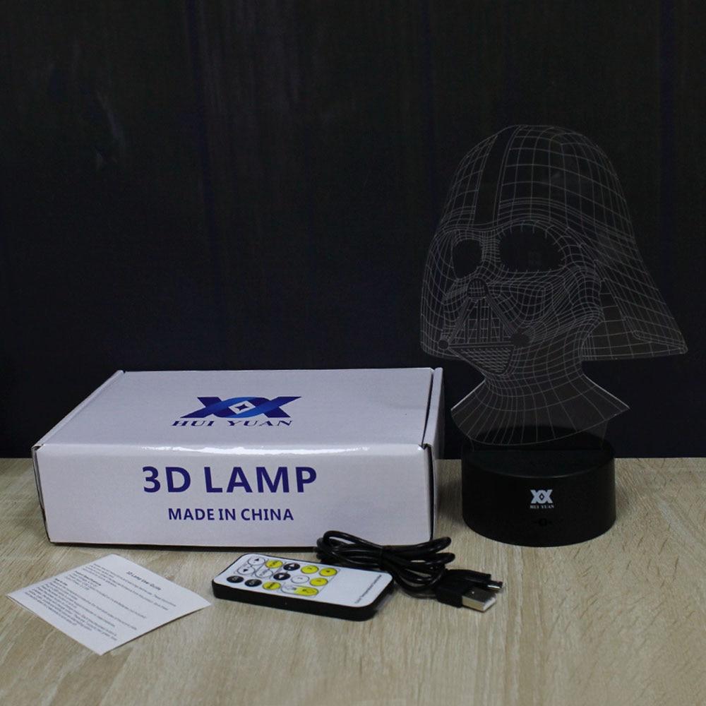 Star Wars Anakin Skywalker 3D Lamp Darth Vader LED Remote Control - Night Lights - Photo 5
