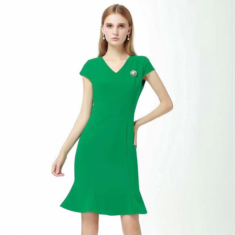 Moda Black green Marca Mujeres Elegante Verano Otoño Fresco Y Cadera Paquete Traje Primavera Las De 2019 Chica Temperamento Slim r4wrTBUqx