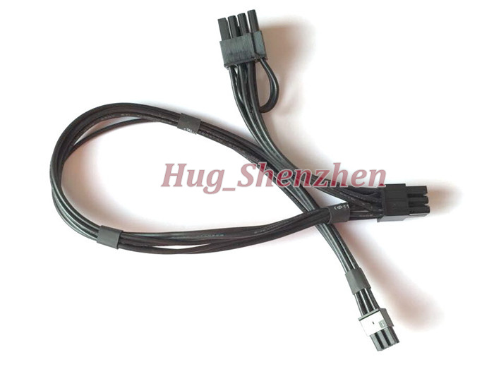 Купить с кэшбэком Free Ship via DHL/EMS 200pcs for mini 6pin to 6pin + 8pin(6+2) PCI-e Power Adapter Cable 18awg for Mac Pro Video Card 8800GT