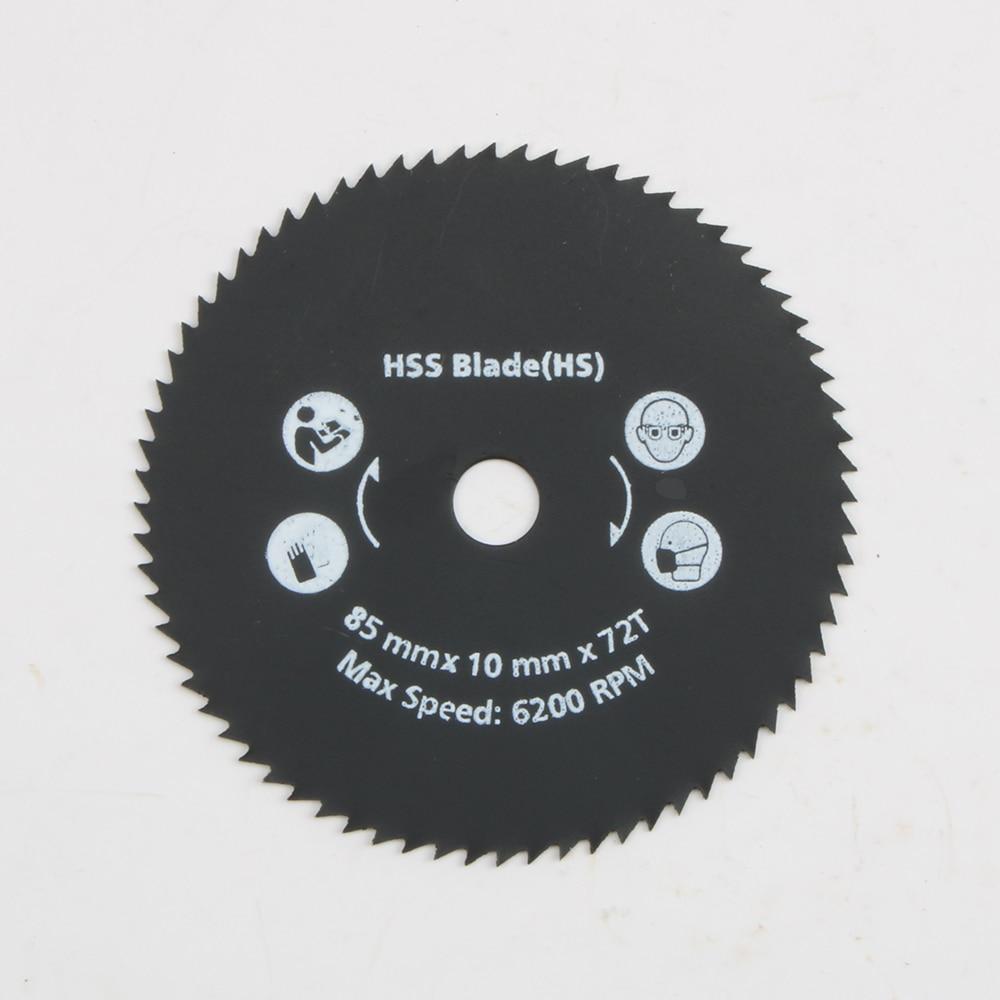Newest 1PC 85mm 72T HSS  Mini  Circular Saw Blade Cutting Disc Wheel For  Wood Metal Working Tools Hot Sale LUBAN