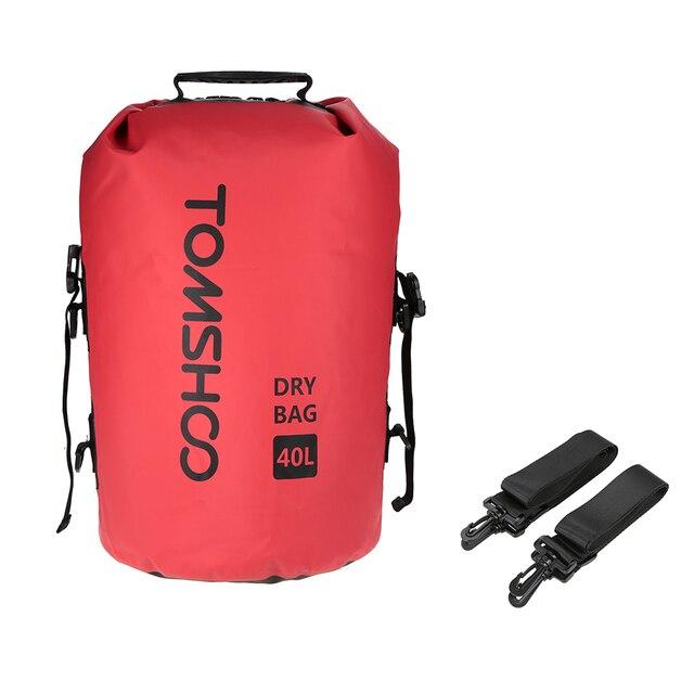 40l 야외 방수 건조 가방 자루 스토리지 가방 여행 래프팅 보트 카약 카누 캠핑 스노우 보드