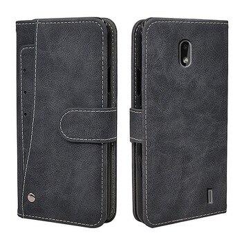 Перейти на Алиэкспресс и купить Роскошный чехол-кошелек для Nokia 2,2 2,3 3,2 4,2 6,2 7,2 1,3 5,3 8,3, винтажный кожаный чехол с откидной крышкой, деловой силиконовый чехол из ТПУ с отделени...