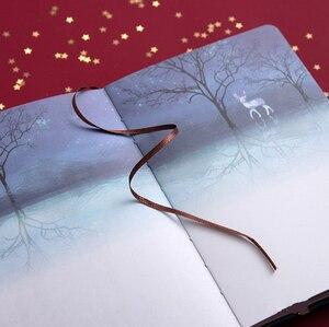 """Image 5 - """"פנאי חג"""" קשה כיסוי יומן יפה מחברת יומן פנקס שחור ניירות משלוח הערה מכתבים מתנה"""