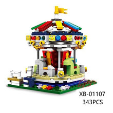 XingBao 01107 Genuine 343Pcs Colorful World Series The Merry Go Round Set Building Blocks Bricks Educational Toys Model As Gift(China)