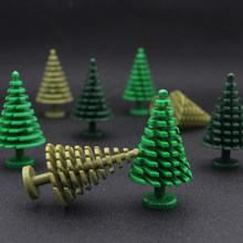 LegoINGlys Military Tree MOC Building Blocks Green Plant Mini Christmas Trees DIY Brick Compatible With Legoes Toys For Children(China)