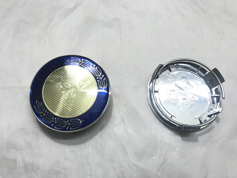 New 4pcs Center Caps Silver Chrome Star 75mm 3 wheel cover emblem For MERCEDES BENZ ML S E C GL GLK