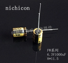 10pcs/20pcs NICHICON capacitance FW 6.3V1000uF 8*11.5 L series audio super capacitor electrolytic capacitors free shipping цена 2017