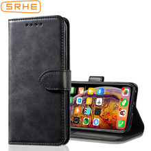 SRHE Cover For Lenovo Z5S Case Flip Leather Silicone Magnetic Wallet Phone L78071