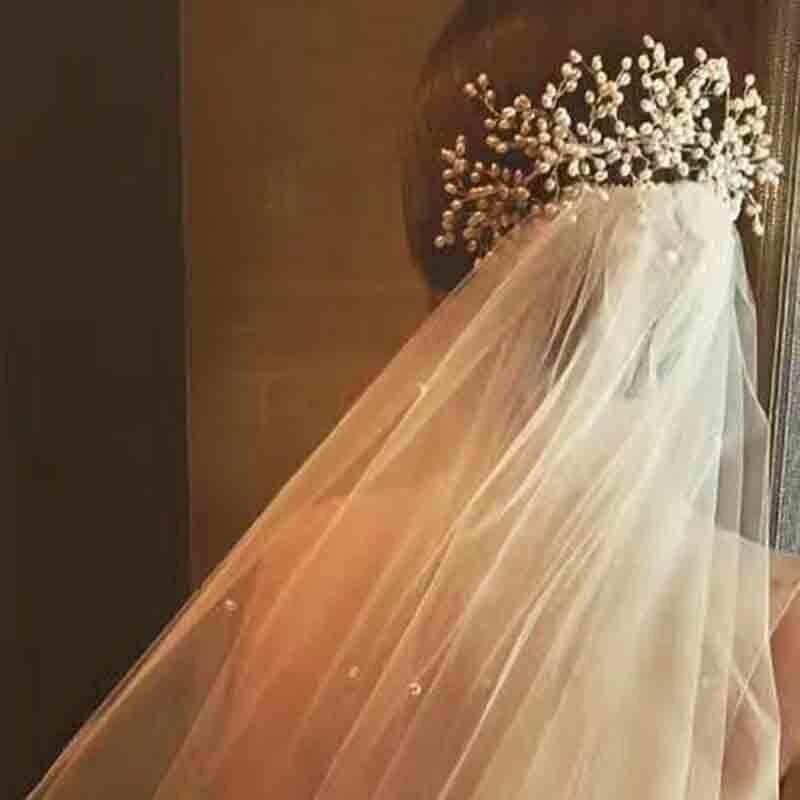3PCS Handmade Simulated Pearl Bead Bridal Hair Flower Hair Jewelry Prom Hair Comb Headpieces Women Girl Wedding Hair Accessories