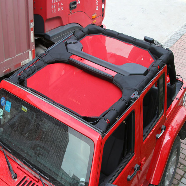 Door Plank Thermal Net For Jeep Wrangler ABS 2007 2016 Red 4 Doors