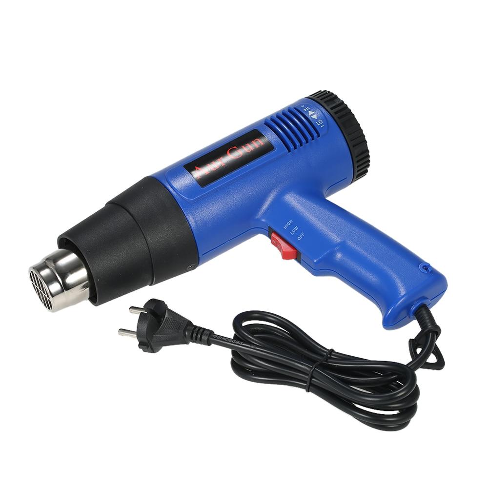 цена на 1800W Fast Heating Hot Air Gun Industrial hair dryer Adjustable Temperature hot gun soldering Heat gun Blower 4 Nozzles AC220V
