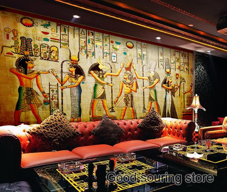 acient Egypt photo wallpaper for dining room coffee shop restraurant khul in egypt