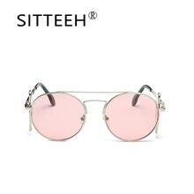 SITTEEH marco redondo gafas de Sol 2018 del verano gafas de sol para mujeres de los hombres gafas de sol oculos lunette de soleil hombre SI531